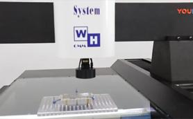 台湾进口气浮式二次元影像测量仪测量操作视频
